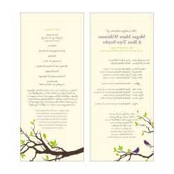 wedding program designs ilona s wedding program templates free