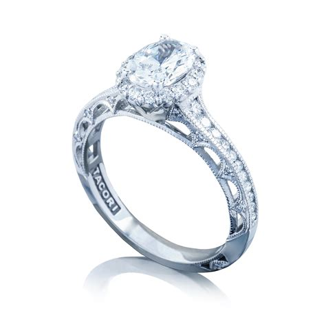 engagement ring tacori engagement rings reverse crescent oval setting