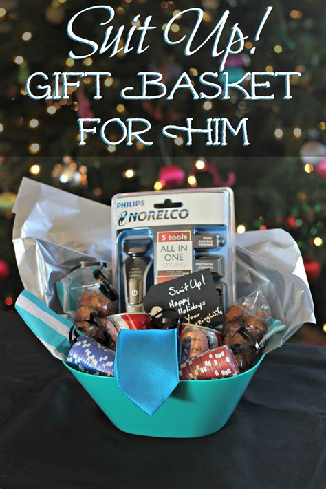 suit up gift basket for him living a sunshine life