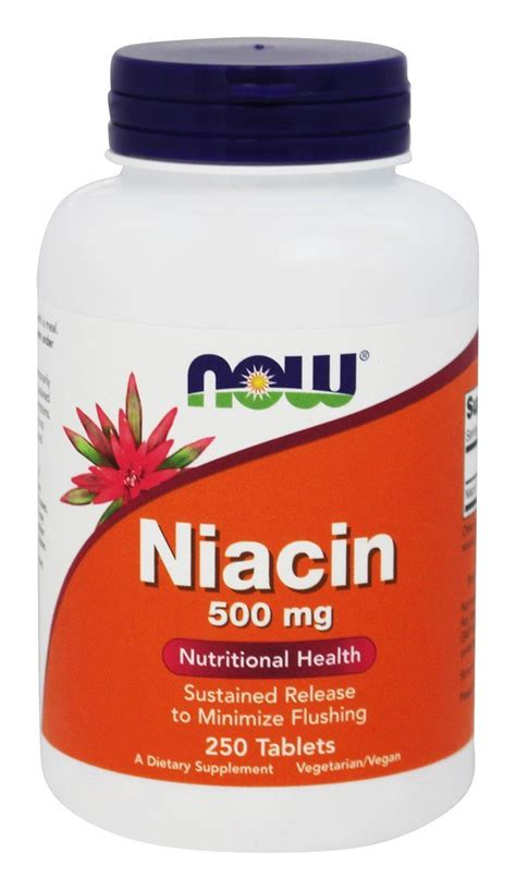 Detox From Thc With Time Release Niacin by Buy Now Foods Niacin Time Release Vegetarian 500 Mg