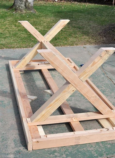 diy table with x legs tips for your own outdoor furniture diy outdoor