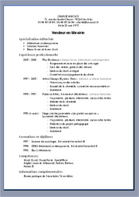 Template Cv Open Office Gratuit Modele Cv Open Office Document
