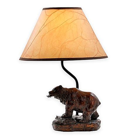 fishing themed l shades bear fish theme accent l with oiled paper shade bed