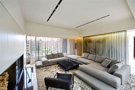 interior furnishing innocad s ultra modern chelsea penthouse pays homage to