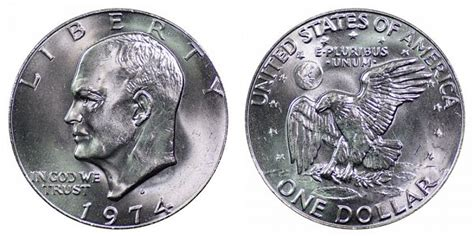 composition of dollar coin 1974 d eisenhower dollars clad composition value and prices