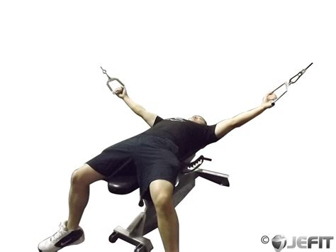 flat bench cable fly cable flat bench fly exercise database jefit best
