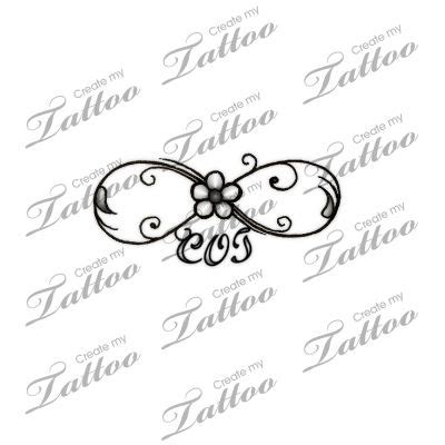 infinity tattoo with three names initials infinity symbol and names on pinterest