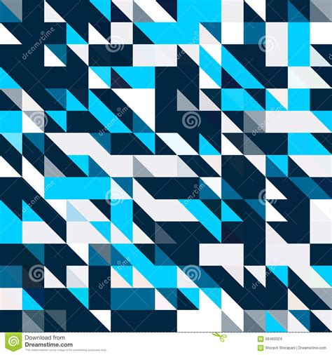 pattern black and blue triangle geometric shapes pattern black and blue stock