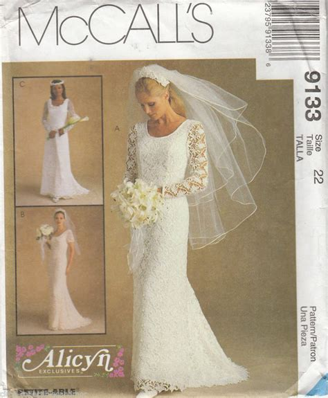 pattern dress lace overlay bridal wedding gown dress lace overlay mccalls sewing