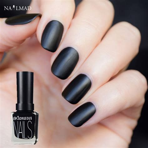 matte nail colors 1 bottle 15ml black color matt nail frosted matte