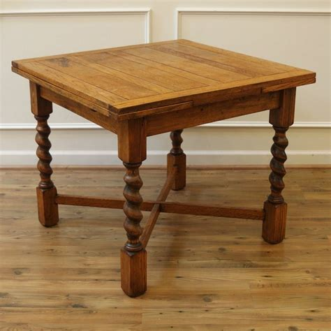 draw leaf table and chairs antique dining table barley twist draw leaf oak