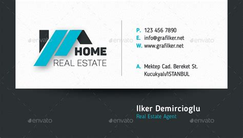 data business card template real estate business card templates by grafilker02