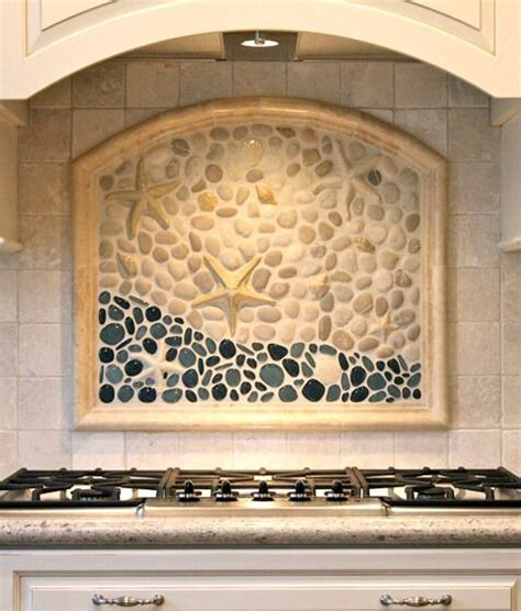 murals for kitchen backsplash coastal kitchen backsplash ideas with tiles from
