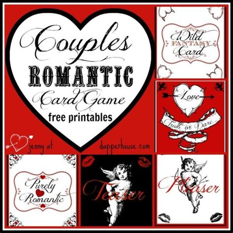 valentines day activities for couples card for s day at