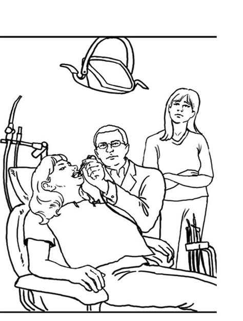 Healthy Teeth Coloring Pages Coloring Home Dentist Coloring Page