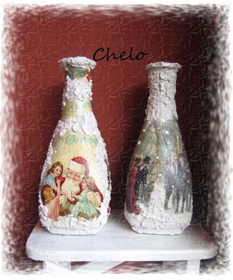 como decorar jarrones de cristal para navidad el rinc 243 n de chelo dos jarrones de navidad