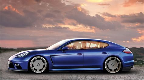 blue porsche panamera side pose of 9ff porsche panamera turbo in blue wallpaper