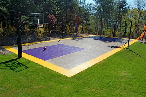 backyard multi sport court multi sport backyard home court built by snapsports