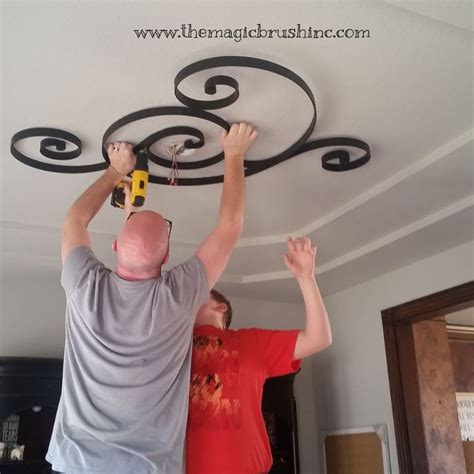 hometalk non traditional ceiling medallion