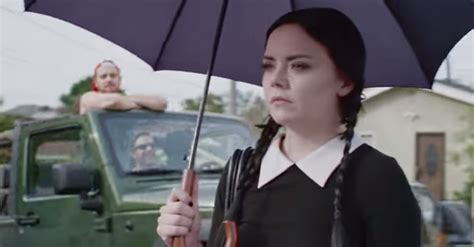 how wednesday addams would react to catcalling how wednesday addams owns the men who cat call her