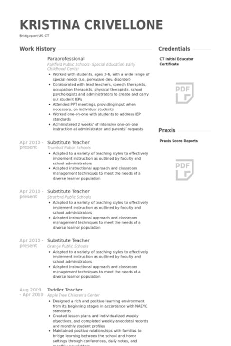 Paraprofessional Resume Sles by Sle Resume Special Education Paraprofessional Resume Ixiplay Free Resume Sles
