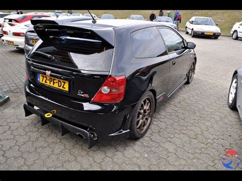 loudest honda civic exhaust sounds in the world. si