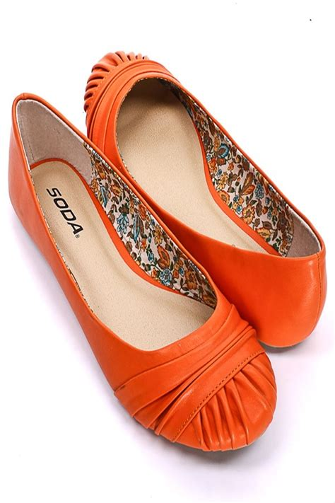 orange flats shoes 38 best shoes images on clothing apparel