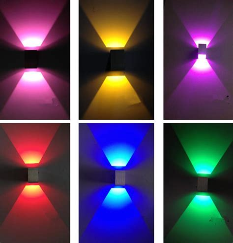 indoor led light bar 2018 3w square wall light led wall l modern home wall