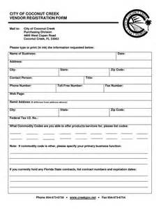 Application Form Blank Vendor Application Form Vendor Registration Template