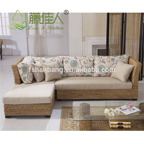 Seagrass Living Room Furniture Design Woven Classic Seagrass Rattan Wicker Living Room Furniture Sectional