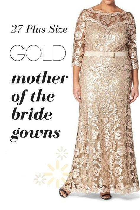 "Plus Size Gold Mother of the Bride Gowns""   Plus Size"