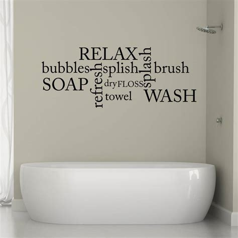 bathroom word cloud wall sticker by mirrorin