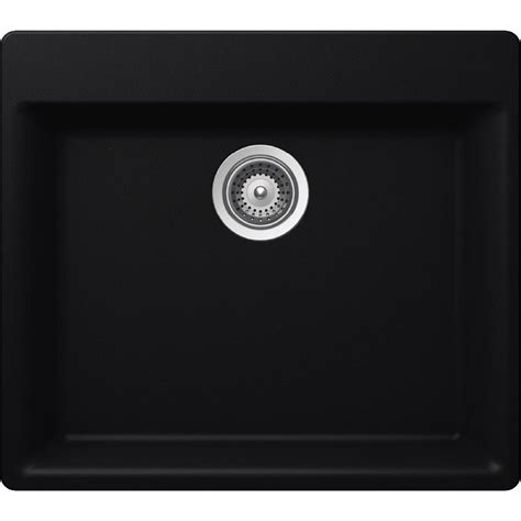 Elkay Elkay By Schock Drop In Undermount Quartz Composite 24 In Single Basin Kitchen Sink In Elkay Schock Sink Template