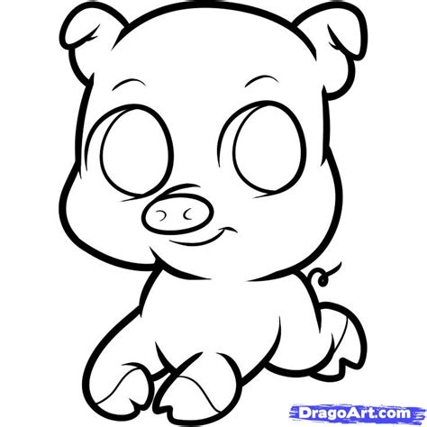 easy pig drawing free coloring pages on art coloring pages
