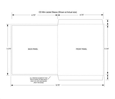 printable cd envelope sle cd envelope template 9 free documents in pdf