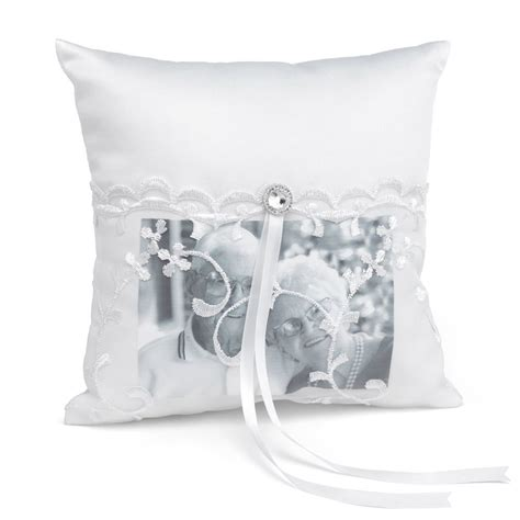 lace pocket memorial pillow invitations by