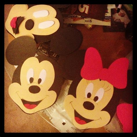 mickey mouse craft projects mickey and minnie mouse lots of cutting things to do