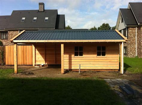 tuinhuis friesland houten tuinhuis met overkapping drachten vekam houtbouw