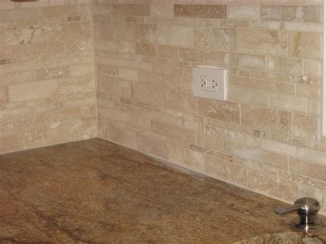 travertine tile kitchen backsplash tumbled travertine