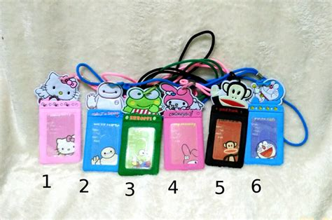 Dompet Card Hello jual gantungan id card motif luggage name tag lanyard
