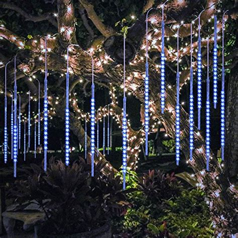 how to make raining lights in a tree bluefire upgraded 50cm 10 540 led meteor shower lights falling drop