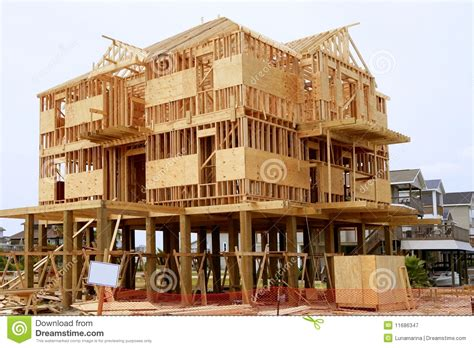House Structure Wood House Contruction American Wooden Structure Royalty