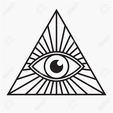 all seeing eye in the all seeing eye symbol vector illustration patterns for