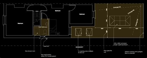 Island Kitchen Plan skylight roof lantern fiber glass flat roof rear