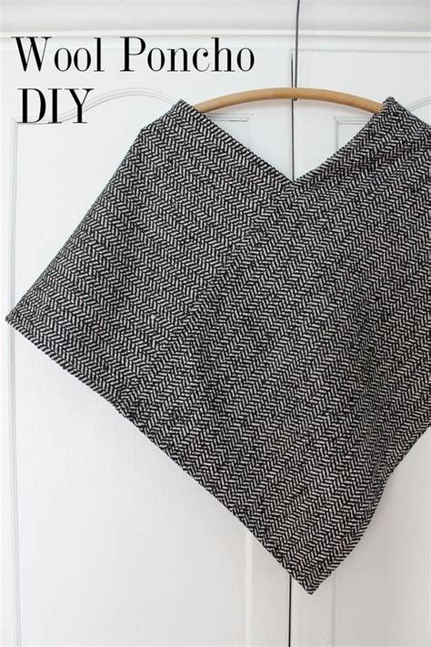 fabric pattern poncho wool poncho sewing tutorial
