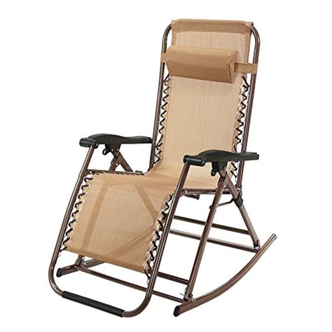 rocking recliner garden chair zero gravity rocking chair outdoor recliner infinity tan