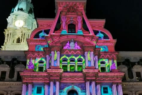 light show in philadelphia 2017 here s a sneak preview of city hall s awesome holiday