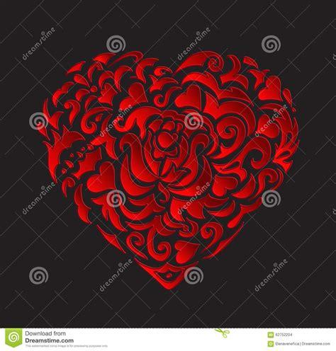 black heart pattern red heart pattern stock vector image 62752204