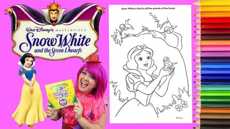 coloring snow white disney princess coloring book page