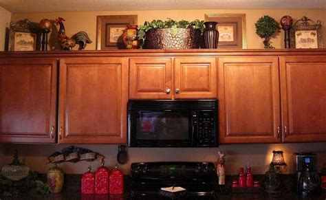 decorating ideas kitchen cabinet tops ideas for decorating ontop of kitchen cabinets home